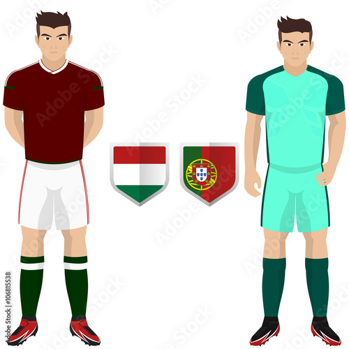 best authentic 7caa8 8e283 Soccer Kit of Hungary and Portugal National Team for ...