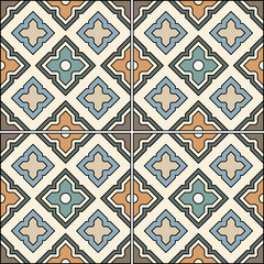 Beautiful seamless ornamental tile background vector illustration.
