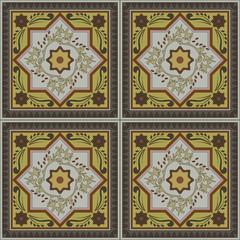 Abstract vintage ethnic seamless pattern ornamental. vector flourish frame