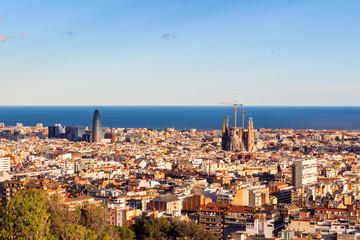 Barcelona aerial view, Spain
