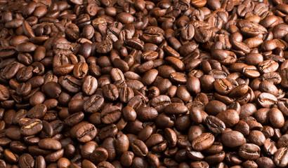 Фон из кофейных зерен.