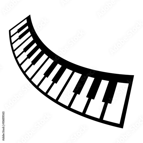 """piano keyboard musical instrument vector icon"""" stock image and"""