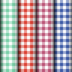 Checkered tablecloth texture