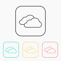 color icon set of clouds