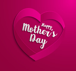 Happy Mothers Day. Vector Festive Holiday Illustration