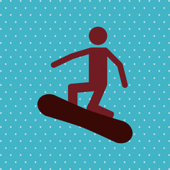 snowboard sport design, vector illustration