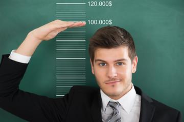 Businessman Measuring Profit
