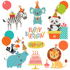 Cute animals birthday wishes