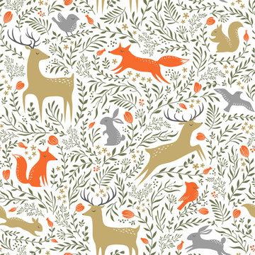 Summer woodland pattern
