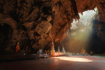 Buddha cave, Tham Khao Luang near Phetchaburi,Thailand