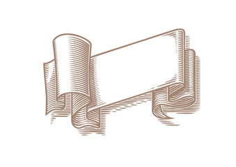 Vector folded ribbon