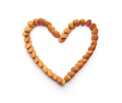 Almonds Heart Shape