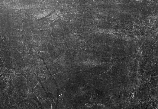 Horizontal Texture of Black Dirty Chalkboard Background