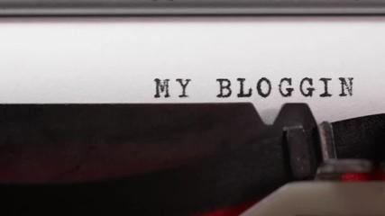 Stock Video of Typing My Blog on an old manual typewriter
