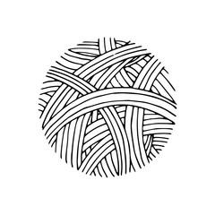 Yarn ball pattern