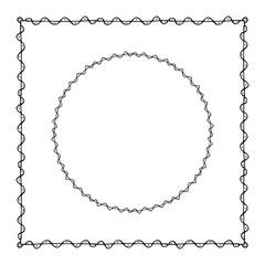 Frame in vector
