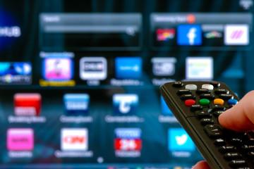smart tv concept remote control