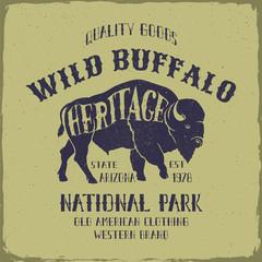 Wild Buffalo typography design.