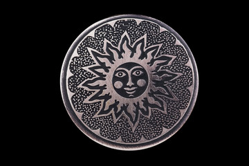 Sun. Image of the solar countenance. A symbol health and happiness