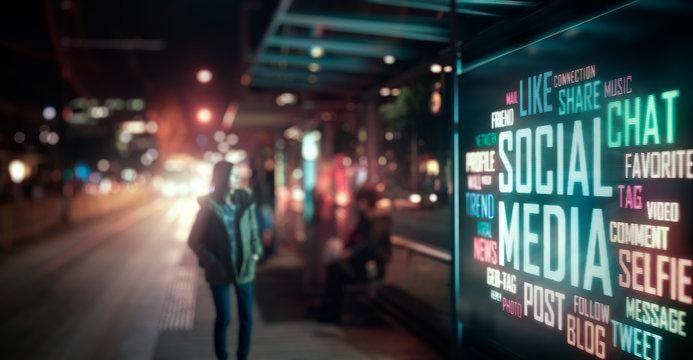 LED Display - Social Media signage