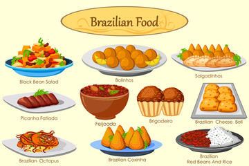 Collection of delicious Brazilian food