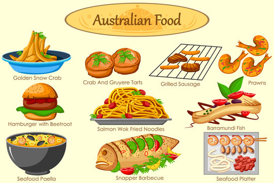 Collection of delicious Australian food