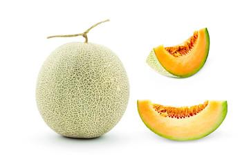 Cantaloupe melon isolate on a white background