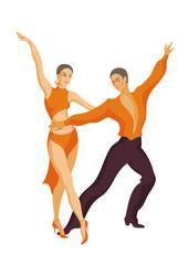man and woman dancing the samba