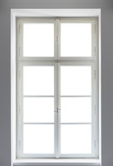 Classic window on white background