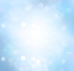 Spring or summer blue background blur.