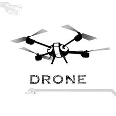 flying drone, quadrocopter, uav Vector Illustration