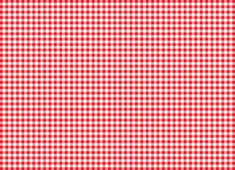 Tischdecke Karomuster in Rot