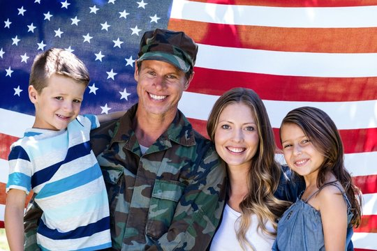 American soldier reunited with his family