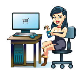 Businesswoman Office Working