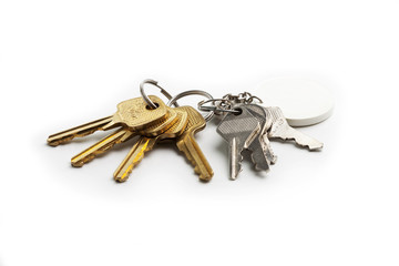 bunch of keys on a white background