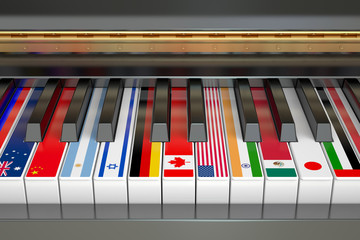 International Music Competition concept, 3D rendering