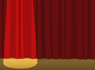 Stage Curtain Light Wallpaper