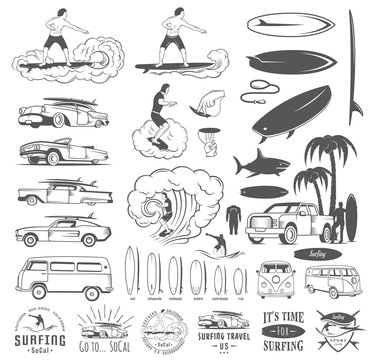 Vector Set Surf Badges, Sign and Logos
