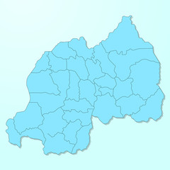 Rwanda blue map on degraded background vector