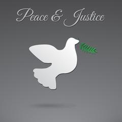 Peace dove vector icon.