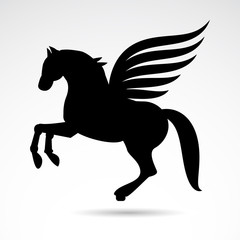 Pegasus vector icon.