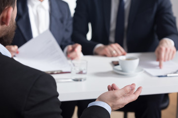Body language is important during job interview