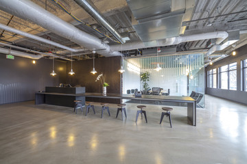 Modern architecture of office reception area