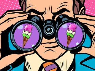 Man wants ice cream