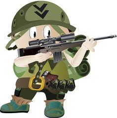 vector kid soldier