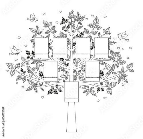 Arbre Genealogique A Dessiner 2 Stock Image And Royalty Free Vector