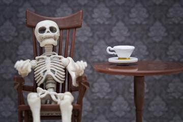 skeleton tea time