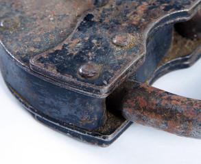 old antique metal lock closeup