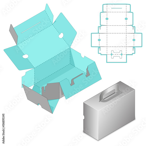 Gift Box Packaging Template Custom Carry On Protective Box Design