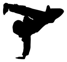 break dance silhouette